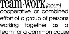Wall Quote Teamwork Definition