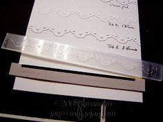 Tips for eliminating the folder line on embossing folder borders