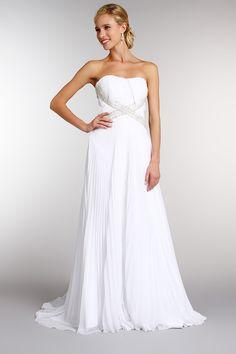 robe en mousseline plisse blanc tati - Tati Fr Mariage