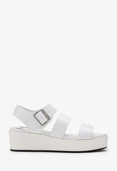 Faux Leather Flatform Sandals | Forever 21 - 2000098593