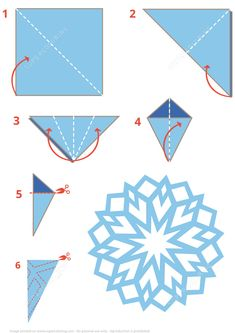 Free instructions origami papercraft printable snowflake templates origami snowflake instructions free printable papercraft templates how to create a diy mason jar night light by yourself Diy Christmas Snowflakes, Snowflake Craft, Christmas Art, Snowflake Origami, Origami For Christmas, Paper Snowflakes Easy, How To Make Snowflakes, Origami Hearts, Origami Flowers