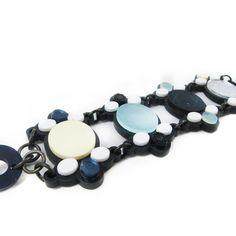Gothic bracelet | $60 | #UnderOurSky Turquoise Bracelet, Gothic, Beaded Bracelets, Jewelry, Goth, Jewlery, Jewerly, Pearl Bracelets, Schmuck