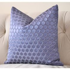Blue Purple Pillow Cover Periwinkle Blue Geometric Pillow High End... ($66) ❤ liked on Polyvore featuring home, home decor, throw pillows, geometric throw pillows, blue accent pillows, blue toss pillows, blue home decor and blue throw pillows