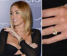 Pin for Later: Die schönsten Eheringe der Stars Miley Cyrus Liam Hemsworth schenkte Miley Cyrus einen 3,5-karätigen Diamantring.