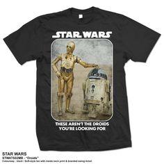 Star Wars Men's Tee: Droids Ref:STWATS02MB