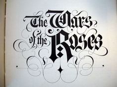 The Wars Of The Roses by Kieth Murgatroyd - Less flourishes.