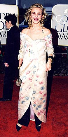"To Golden Globe Cameron, really?! I would not wear this to a bazaar. The year being 1999 is not an excuse. Even 90s were not ""that"" lame."