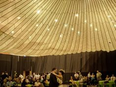 GSS's Things We LOVE :: Innovative Wedding Reception Decor Idea :: Parachute Ceiling