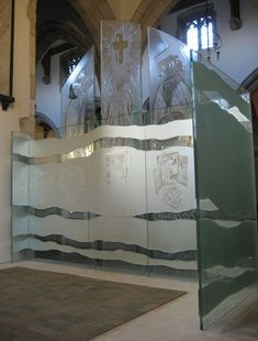 St Peter & St Paul Glass Screen - Great Missenden Church Glass - Gallery - Mynheer-art: the fine art site of painter and sculptor Nicholas Mynheer