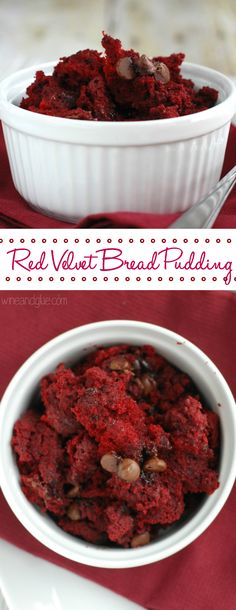 Red Velvet Bread Pudding | The delicious rich flavor of red velvet in bread pudding!