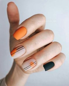 Semi-permanent varnish, false nails, patches: which manicure to choose? - My Nails Cute Acrylic Nails, Cute Nails, Pretty Nails, My Nails, Fall Nails, Perfect Nails, Gorgeous Nails, Nail Manicure, Nail Polish