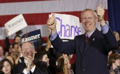 Illinois Gov. Bruce Rauner stuck to his anti-union stance while giving the annual state-of the-state address, enraging Democrats and receiving public demonstrations as he gave it
