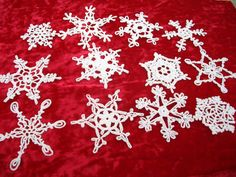 Beautiful Crocheted Snowflakes