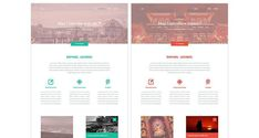 Variety modern clean web template psd photoshop free