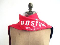 Boston Red Sox T Shirt Scarf for Him Her / Scarlet Red by ohzie, $25.00