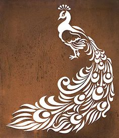 Peacock Metal Garden Wall Art Panel | Overwrought