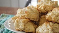 Just mix the basic ingredients, drop the batter by spoonfuls onto a baking sheet, and bake.  These golden biscuits are so simple you will be surprised by the lovely texture and taste.