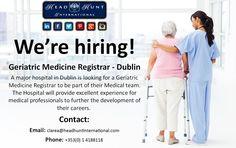 #Job #hiring #doctor #nursing #medical #healthcare #geratrics #opportunity #career #hospital Nurse Gifts, Doctors, Nursing, Opportunity, Health Care, Career, Medicine, Carrera, Freshman Year