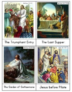 Montessori cards and sequencing cards for Lent and Easter showing events in life of Jesus during holy week. Catholic Crafts, Catholic Kids, Catholic Books, Catholic School, Roman Catholic, Teaching Religion, Religion Catolica, Holy Week Images, Moslem