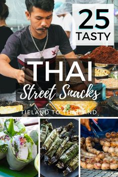 Exploring Thailand wouldn't be complete without grazing on Thai street snacks from the country's ubiquitous street stalls. But for some people, this can be overwhelming, so here's a finger food guide for treats that are less than a dollar and can be nibbled on while you're walking around. | Tieland to Thailand