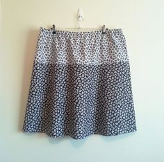 Plus size women's skirt black and white white and by GrannyJack,
