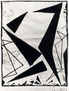 Frantisek Kupka · 1924 Study in black and white