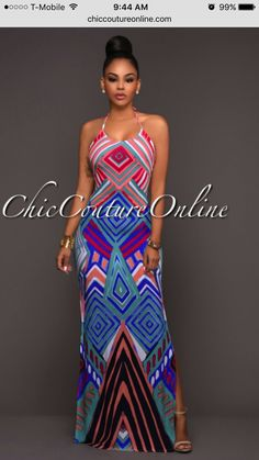 Cheap maxi dress, Buy Quality beach party dress directly from China dress with slit Suppliers: Chic Geometric Pattern Boho Style Maxi Dress with Slit Sexy African Backless Summer Holiday Beach Party Dresses Cheap Beach Dresses, Casual Dresses, Pretty Outfits, Cool Outfits, Chic Couture Online, Boho Fashion, Fashion Outfits, Cheap Party Dresses, Maxi Dress With Slit