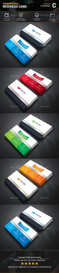 #Business #Card - Business Cards Print Templates Download here: https://graphicriver.net/item/business-card/20081541?ref=alena994
