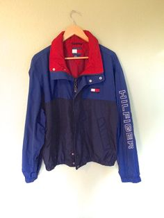 90s TOMMY HILFIGER jacket zip up windbreaker M by konbinicute                                                                                                                                                                                 Más