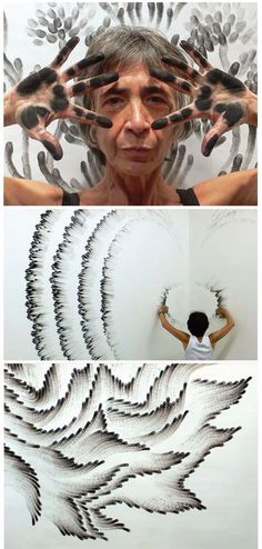 Judith Braun - Brings whole new meaning to finger painting Wow Art, Art Plastique, Art Techniques, Art Inspo, Creative Art, Amazing Art, Art Drawings, Art Projects, Art Photography