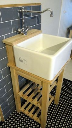 Belfast / Baby Belfast Sink Stand Unit, Oak Tap Ledge - Freestanding Heavy Frame in Home, Furniture & DIY, Kitchen Plumbing & Fittings, Kitchen Units & Sets Belfast Sink Bathroom, Belfast Sink Garden, Belfast Sink Kitchen, Vintage Kitchen Sink, Garden Sink, Bathroom Sink Cabinets, Belfast Sink Unit Diy, Belfast Sink Housing, Belfast Sink Small