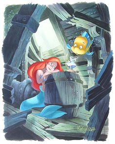 The Little Mermaid - First in the Collection - Original - Mike Peraza - World-Wide-Art.com
