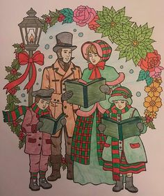 ColorIt Free Coloring Pages Colorist: Michele Allen #adultcoloring #coloringforadults #adultcoloringpages #FreeChristmasPages