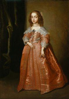 Mary, Princess of Orange (1631-1660) daughter of King Charles I; consort of William II of Orange-Nassau Sir Anthony van Dyck (after)