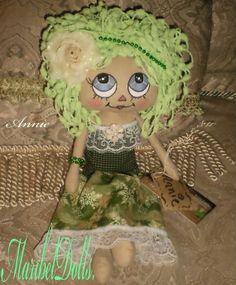 Cloth Art Rag Doll Annie Raggedy  by MaribelDolls on Etsy, $45.00