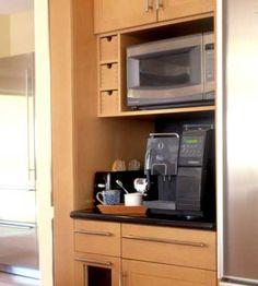 Coffee Bar with microware