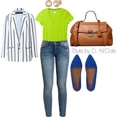 d4c99ed3bcb8 Untitled #1289, created by stylebydnicole on Polyvore Denim Outfits, Chic  Outfits, Plus