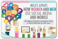 """How men and women use social media   Articles   Home  Those of us who manage our organizations' Social Media efforts for PR/Communication/Marketing purposes may find this Infographic fascinating, relevant and useful.  While it does not exactly fall under the """"Men Are From Mars, Women Are From Venus"""" principle, the patterns indicted herein are rather consistent with what we already basically know about both sexes."""