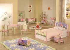 Meisjeskamer met vrolijke dieren 'Magic Garden'   Meisjeskamers