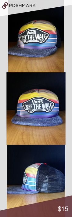 d686192c754 SALE Vans Snapback ◉Multicolored Vans Off The Wall Snapback!