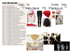 """30 Day Song Challenge"" by band-obsessed-forever ❤ liked on Polyvore featuring Topshop, Vans and Madewell"