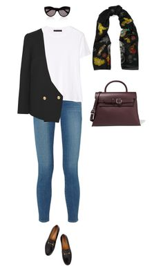 """Untitled #401"" by amyjonez on Polyvore featuring Alexander McQueen, Alexander Wang, L'Agence, The Row, Lanvin and Gucci"