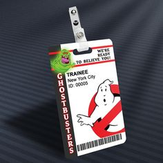 Ghostbusters - Slimer Trainee Prop ID Badge at The Away Mission