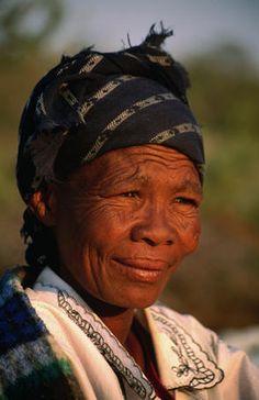 Portrait of Kalahari Bushman (San) woman.BelAfrique your personal travel planner - www.BelAfrique.com