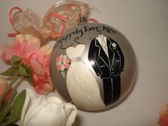 Hand Painted Personalized Bride Groom Wedding by samdesigns22, $48.00