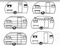 Camper Clipart Retro Vector Commercial Use Camperdecorsigns