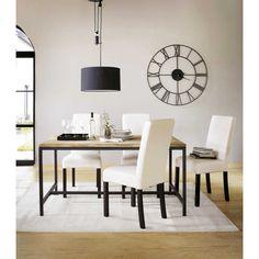 E80,- // Zwarte metalen industriële SIRIUS klok D 107 cm | Maisons du Monde