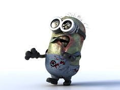 Zombie minion...I shall add this to my Zombie Adorable Kitten and Puppy collection! (because I'm not sure where this would go...altho, Uh, Oh, Zombies! is a good start! 3 Minions, Minion Rush, Minion Stuff, Minions Quotes, Funny Minion, Walking Dead Zombies, The Walking Dead, Walking Dead Humor, Cultura Pop