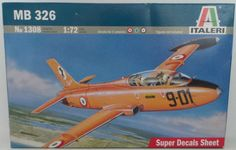 AVIATION : MB 326 MODEL KIT MADE BY ITALERI NO.1308 SCALE 1:72