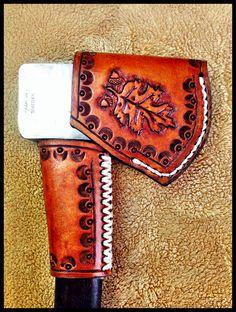 Leather Axe Sheath & Handle Guard by John Black